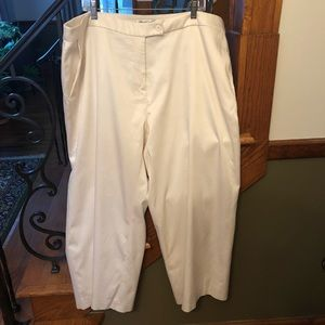 Coldwater Creek Shiny Silk Blend Slacks 24